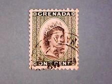 Grenada. QE2 1953 1c Black & Deep Emerald. SG193. Wmk Mult Script CA. P11½. Used