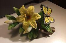 Seymour Mann  Butterfly & Flower Porcelain Figurine Signed By Bernini TM