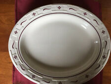 Longaberger Large Oval Serving Platter: Pottery Woven Traditions: Heritage Red