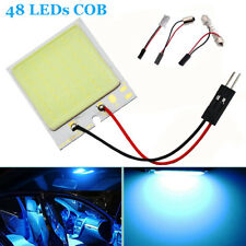 48LEDs Car Vehicle LED COB Blue Dome Map Light Bulb Interior Panel Lamp T10 BA9S