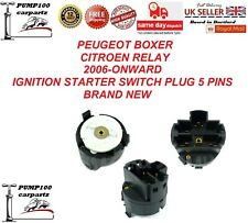 PEUGEOT BOXER CITROEN RELAY 2006-2018 STEERING IGNITION STARTER  SWITCH 5 PINS