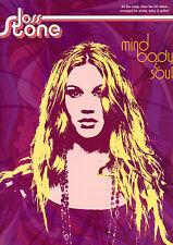Joss Stone Mind Body & Soul Music Libro Pianoforte VOCAL GUITAR PVG Songbook S/SPORCHE
