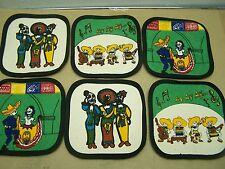 Set of 6 Day of the Dead Sturdy Cotton Coasters, 3 Designs, Dia de los Muertos