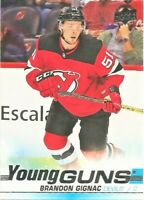 2019-20 Upper Deck Series 1 Hockey Young Guns #239 Brandon Gignac Devils