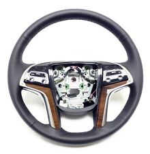 2015-2017 Cadillac Escalade Steering Wheel Black Lather, Black Stitches 23361001