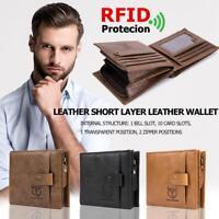 for BULLCAPTAIN Herren Brieftasche Portemonnaie Geldbeutel Geldtasche Geschenk