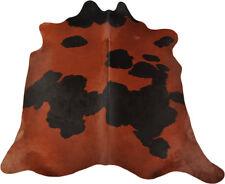 Premium Peau de Vache Taureau Marron Noir Coloré 200 X 195 Cm