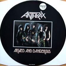 "ANTHRAX ARMED AND DANGEROUS 12"" VINYL LTD ED PICTURE DISC 1985 MEGAFORCE MRS-05"