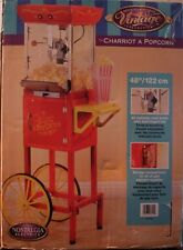 Nostalgia Electrics Vintage Collection Old fashioned Movie Popcorn Cart - New