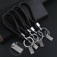 Fashion Men Leather Key Chain Ring Keyfob Car Keyring Keychain Creative Gift w/