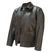 Raiders of Lost Ark Leather Jacket in Brown Lambskin