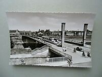 Ansichtskarte Mannheim Friedrich-Ebert-Brücke 50/60er?? Straßenbahn Auto