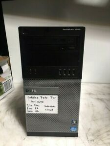 Dell Optiplex 7010 Tower Intel Core i5 3470 3.2GHz 8GB 500GB DVD/RW LINUX PC
