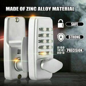Mechanical Door Lock Keyless Knob Keypad Digital Code Password Entry Combination