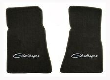 Dodge Challenger Classic 1970 1971 model Floor Mat Set Black with Challenger