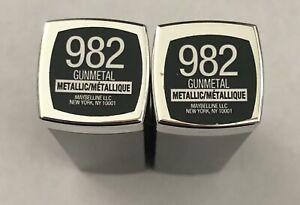 (2) Maybelline Colorsensational Metallic Lipstick, 982 Gunmetal