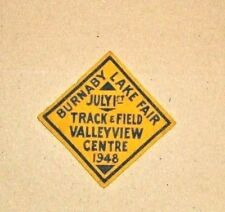 Vintage 1948 Track & Field Valley View Centre Patch - Burnaby Lake Fair