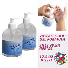 [2 Bottles] 70% Alcohol Instant Hand Sanitizer Gel Antiseptic - 16.9 fl oz each