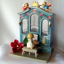 Wendt Kühn Spieluhr Spieldose Orgel Engel Erzgebirge O du fröliche / ei 729