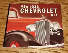 1933 Chevrolet Six Full Line Sales Brochure 33 Chevy Roadster Phaeton