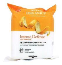 Avalon Organics Intense Defense Detoxifying Facial Towelettes Vitamin C 30 Count