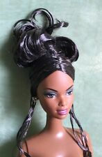 NUDE BARBIE MATTEL STUNNING AA RAVEN UPDO HOLIDAY DOLL FOR OOAK #83