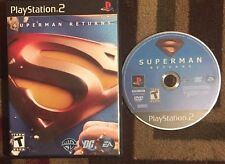 SUPERMAN RETURNS THE VIDEO GAME (Sony PlayStation 2, 2006) VG SHAPE & TESTED