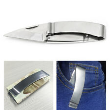 EDC Outdoor Survival Tool Camping Fishing Folding Pocket Rescue Money Clip Knife