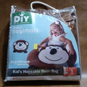 Bean Bagimals Marlowe Monkey Big Joe Zeus DIY Kid Huggable Bean Bag Animal Chair
