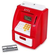 Digitale Spardose Geldautomat mit Sound elektrische Spardose Rot Idena 50021 NEU