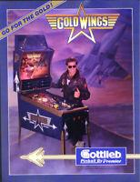 Gottlieb Gold Wings Pinball Machine Sales FLYER 1986 Original NOS Flipper Game