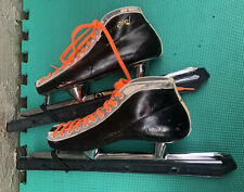 Vintage Handmade Speed Ice Skates with Penguin Blades Size 265mm
