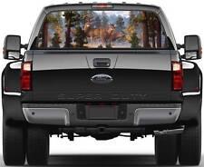 Deer in Forest Ver 2  Rear Window Graphic Decal Truck SUV Van Car