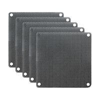 5Pcs 80mm PC Fan Dust Filter PVC Computer Cooler Cover Mesh Dustproof Case 6FA1