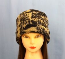 Pillbox Hat Looped Wool Woodlands Warm Winter Hat Anti Itch Moisture Wicking