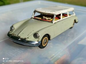 VINTAGE CITROEN DS TIN TOY CAR SEDAN  MF 720 ME FRICTION 60's CHINA FOR PARTS