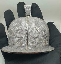 2 Ct Round Sim Diamond Men's Goon Affiliated Letter Customize Cap Pendant Silver