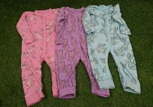 Baby Girl's Next 1.5-2 Years Sleepsuits Set Of 3 Multi Colour Animal Theme