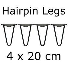 4 x 20 cm mesa piernas tischkufen mesa bastidor sofá mesa hairpin legs muebles pies