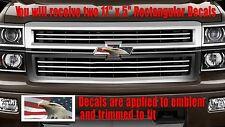 American USA Flag Eagle Emblem OVERLAY Decals for Chevy Bowtie Emblem -2 U CUT