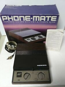 Vintage Phone-Mate IQ-2830 With Voice Activation Answering Machine