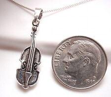 Violin Pendant 925 Sterling Silver Corona Sun Jewelry musician classical music