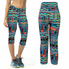 Snazzy's Childrens Aztec Print  kids Teens Funky cropped cycling gym fun legging