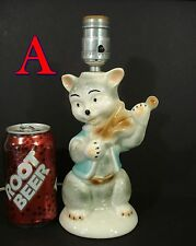 Vintage Cat And The Fiddle Childs Table LAMP 1950's Kitsch retro mid century *A*