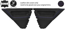 PURPLE STITCH 2X REAR DOOR CARD LEATHER COVERS FOR RENAULT 5 CAMPUS 3 DOOR