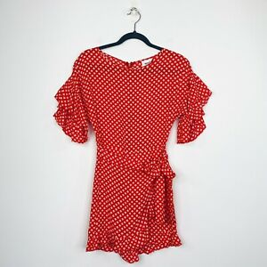 Seed Heritage Womens Playsuit Skort Dress Red Viscose Size 6 NWT
