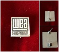 Washington Education Association WEA Retired Teacher Sterling Silver Pin .50""