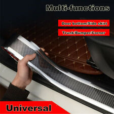 Car Door Sill Scuff Carbon Fiber Stickers Welcome Pedal Bumper Fender Protector
