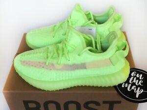 Adidas Yeezy Boost 350 V2 Glow In Dark GID Green Yellow EG5293 UK 4 US 4.5 New