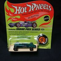 1969 Hot Wheels Lotus Turbine Spectraflame Aqua Blister Pack HK Redline HW1235